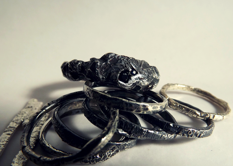 Silex ring & Tribus Luna rings, 2016