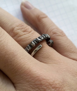 Matchstick ring & The Deeper I go ring