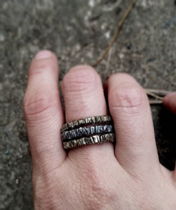 The Deeper I Go stacking rings in brass & sterling silver